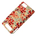 Modern Hipster Triangle Pattern Red Blue Beige Motorola DROID X2 View4