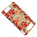 Modern Hipster Triangle Pattern Red Blue Beige Motorola DROID X2 View5