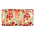 Modern Hipster Triangle Pattern Red Blue Beige Sony Xperia Arc View1