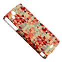 Modern Hipster Triangle Pattern Red Blue Beige Sony Xperia Arc View5