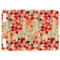 Modern Hipster Triangle Pattern Red Blue Beige Kindle Touch 3G View1