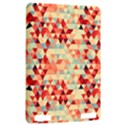 Modern Hipster Triangle Pattern Red Blue Beige Kindle Touch 3G View2