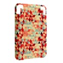 Modern Hipster Triangle Pattern Red Blue Beige Kindle 3 Keyboard 3G View2