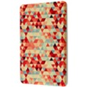 Modern Hipster Triangle Pattern Red Blue Beige Kindle Fire (1st Gen) Hardshell Case View3