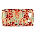 Modern Hipster Triangle Pattern Red Blue Beige Samsung Galaxy Nexus S i9020 Hardshell Case View1