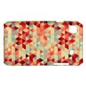 Modern Hipster Triangle Pattern Red Blue Beige Samsung Galaxy S i9008 Hardshell Case View1