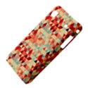 Modern Hipster Triangle Pattern Red Blue Beige Samsung Galaxy S i9008 Hardshell Case View4