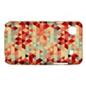 Modern Hipster Triangle Pattern Red Blue Beige Samsung Galaxy SL i9003 Hardshell Case View1