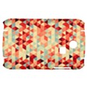 Modern Hipster Triangle Pattern Red Blue Beige Samsung S3350 Hardshell Case View1