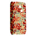 Modern Hipster Triangle Pattern Red Blue Beige Samsung S3350 Hardshell Case View2