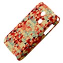 Modern Hipster Triangle Pattern Red Blue Beige Samsung S3350 Hardshell Case View4