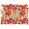Modern Hipster Triangle Pattern Red Blue Beige Apple iPad 2 Hardshell Case (Compatible with Smart Cover) View1