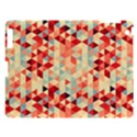 Modern Hipster Triangle Pattern Red Blue Beige Apple iPad 3/4 Hardshell Case View1