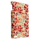 Modern Hipster Triangle Pattern Red Blue Beige Apple iPad 3/4 Hardshell Case View2