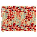 Modern Hipster Triangle Pattern Red Blue Beige Apple iPad 3/4 Hardshell Case (Compatible with Smart Cover) View1