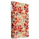 Modern Hipster Triangle Pattern Red Blue Beige Apple iPad 3/4 Hardshell Case (Compatible with Smart Cover) View2