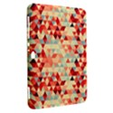 Modern Hipster Triangle Pattern Red Blue Beige Samsung Galaxy Tab 8.9  P7300 Hardshell Case  View2