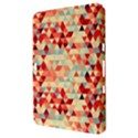 Modern Hipster Triangle Pattern Red Blue Beige Samsung Galaxy Tab 8.9  P7300 Hardshell Case  View3