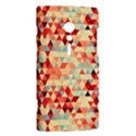 Modern Hipster Triangle Pattern Red Blue Beige Sony Xperia ion View2