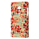 Modern Hipster Triangle Pattern Red Blue Beige Sony Xperia ion View3