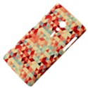 Modern Hipster Triangle Pattern Red Blue Beige Sony Xperia ion View4