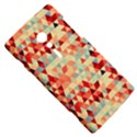 Modern Hipster Triangle Pattern Red Blue Beige Sony Xperia ion View5