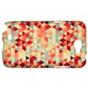 Modern Hipster Triangle Pattern Red Blue Beige Samsung Galaxy Note 2 Hardshell Case View1