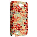 Modern Hipster Triangle Pattern Red Blue Beige Samsung Galaxy Note 2 Hardshell Case View2