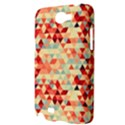 Modern Hipster Triangle Pattern Red Blue Beige Samsung Galaxy Note 2 Hardshell Case View3