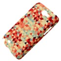 Modern Hipster Triangle Pattern Red Blue Beige Samsung Galaxy Note 2 Hardshell Case View4