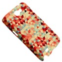 Modern Hipster Triangle Pattern Red Blue Beige Samsung Galaxy Note 2 Hardshell Case View5