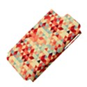 Modern Hipster Triangle Pattern Red Blue Beige Apple iPhone 5 Hardshell Case (PC+Silicone) View4