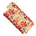 Modern Hipster Triangle Pattern Red Blue Beige Apple iPhone 5 Hardshell Case (PC+Silicone) View5