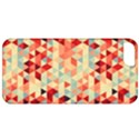 Modern Hipster Triangle Pattern Red Blue Beige Apple iPhone 5 Classic Hardshell Case View1