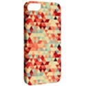 Modern Hipster Triangle Pattern Red Blue Beige Apple iPhone 5 Classic Hardshell Case View2