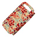 Modern Hipster Triangle Pattern Red Blue Beige Samsung Galaxy S III Hardshell Case (PC+Silicone) View4