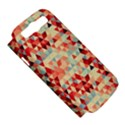 Modern Hipster Triangle Pattern Red Blue Beige Samsung Galaxy S III Hardshell Case (PC+Silicone) View5
