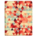Modern Hipster Triangle Pattern Red Blue Beige Apple iPad 2 Flip Case View1