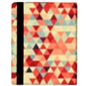 Modern Hipster Triangle Pattern Red Blue Beige Apple iPad 2 Flip Case View3