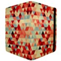 Modern Hipster Triangle Pattern Red Blue Beige Apple iPad 3/4 Flip Case View4