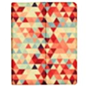 Modern Hipster Triangle Pattern Red Blue Beige Apple iPad Mini Flip Case View1