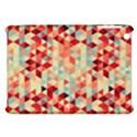 Modern Hipster Triangle Pattern Red Blue Beige Apple iPad Mini Hardshell Case View1