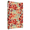 Modern Hipster Triangle Pattern Red Blue Beige Apple iPad Mini Hardshell Case View2