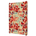 Modern Hipster Triangle Pattern Red Blue Beige Apple iPad Mini Hardshell Case View3