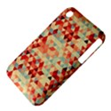 Modern Hipster Triangle Pattern Red Blue Beige Apple iPhone 3G/3GS Hardshell Case (PC+Silicone) View4