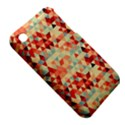 Modern Hipster Triangle Pattern Red Blue Beige Apple iPhone 3G/3GS Hardshell Case (PC+Silicone) View5