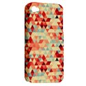 Modern Hipster Triangle Pattern Red Blue Beige Apple iPhone 4/4S Hardshell Case (PC+Silicone) View2