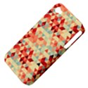Modern Hipster Triangle Pattern Red Blue Beige Apple iPhone 4/4S Hardshell Case (PC+Silicone) View4