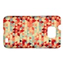 Modern Hipster Triangle Pattern Red Blue Beige Samsung Galaxy S II i9100 Hardshell Case (PC+Silicone) View1