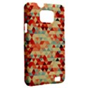 Modern Hipster Triangle Pattern Red Blue Beige Samsung Galaxy S II i9100 Hardshell Case (PC+Silicone) View2